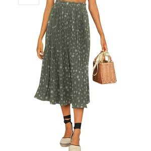 Brand New Chiffon Pleated Midi Skirt